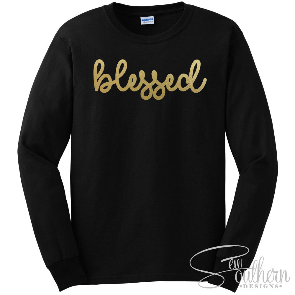 Blessed Shirt - Black Long Sleeve