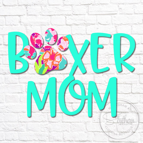 Lilly Boxer Mom Dog Decal