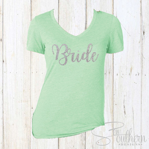 Glitter Bride Shirt - Mint