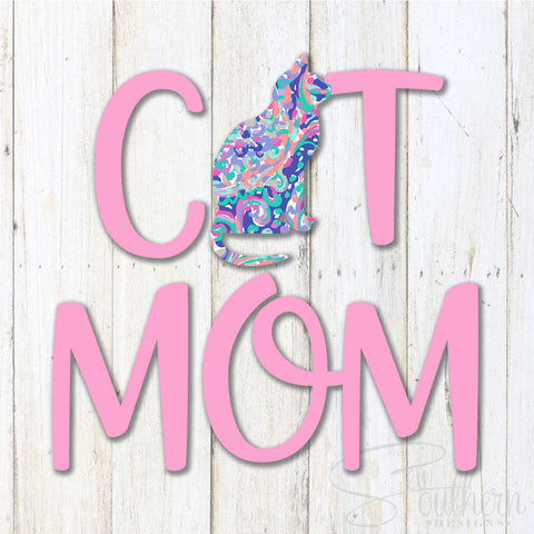 Lilly Cat Mom Decal