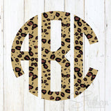 Leopard Cheetah Print Monogram Decal