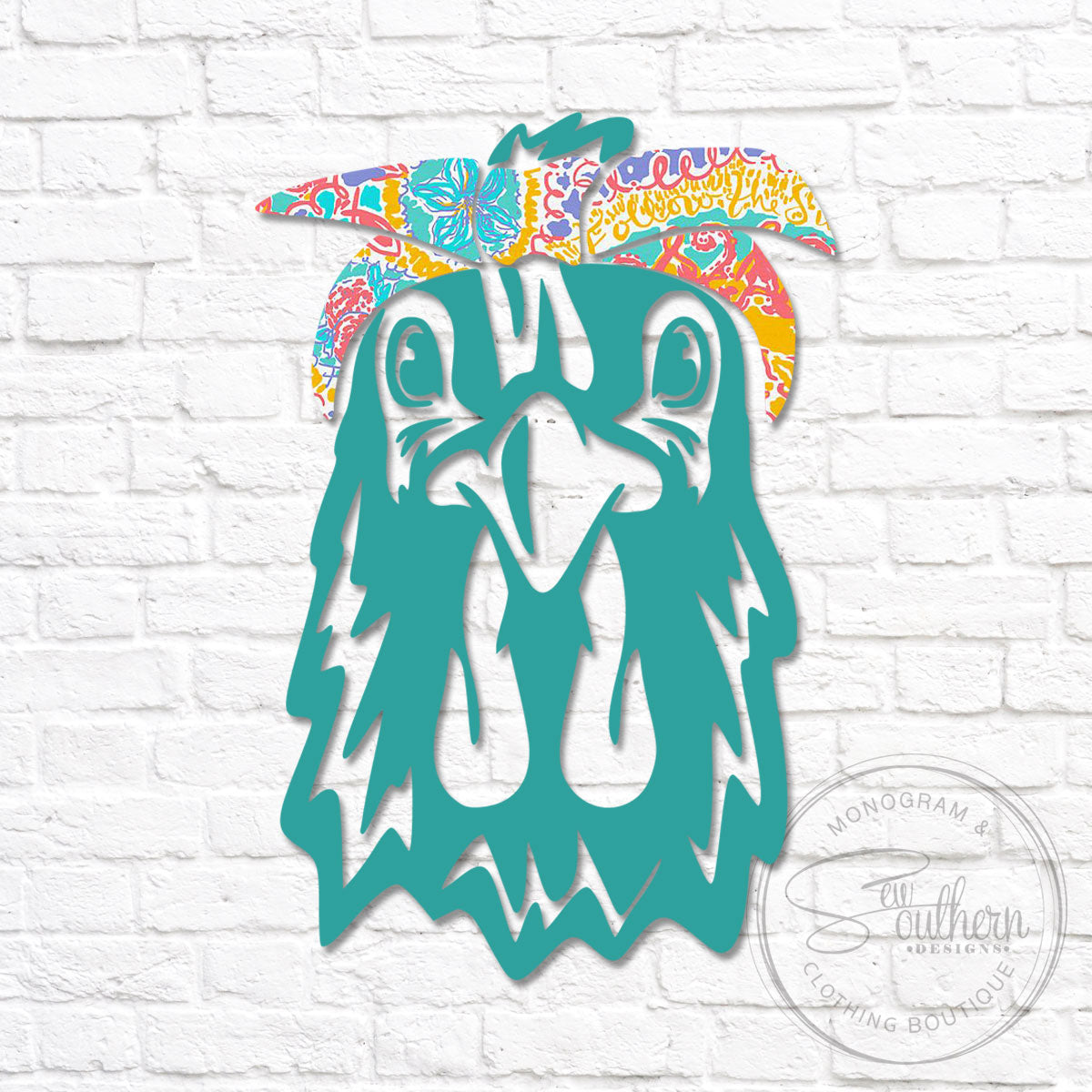 Lilly Chicken Head Bandana Decal