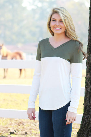 Classic Chic Top - Olive