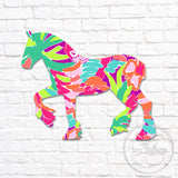 Lilly Clydesdale Decal