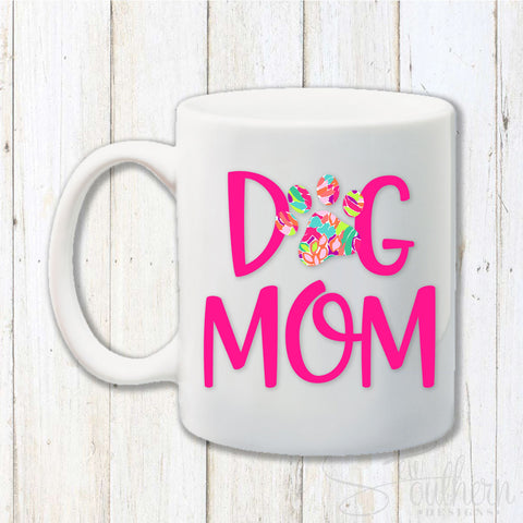 Lilly Dog Mom Coffee Mug
