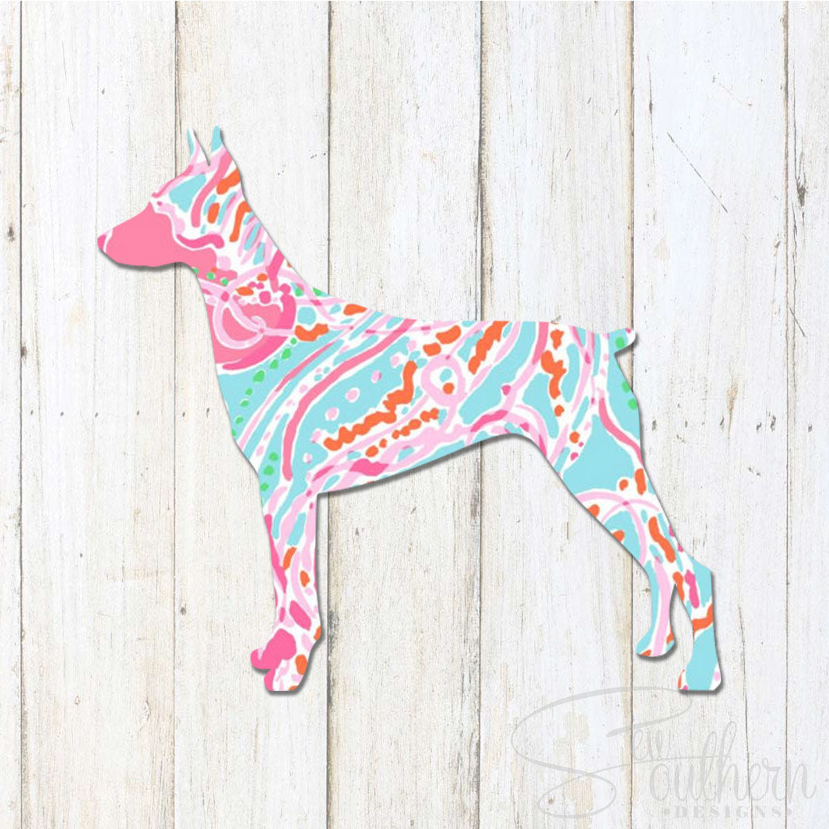 Lilly Doberman Decal