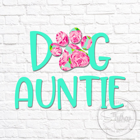 Lilly Dog Auntie Decal
