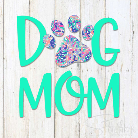 Lilly Dog Mom Decal