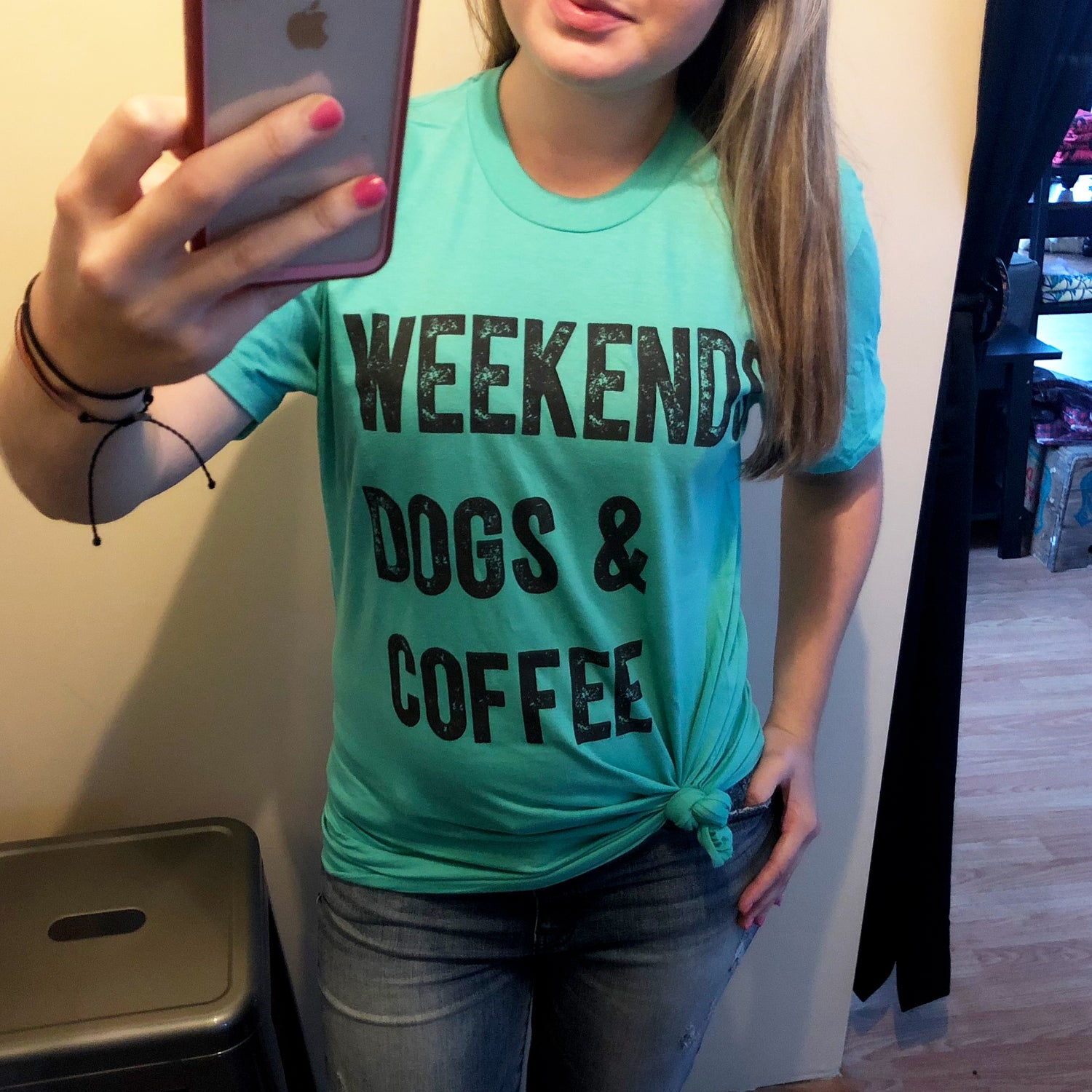 Weekends, Dogs & Coffee - Graphic T-Shirt