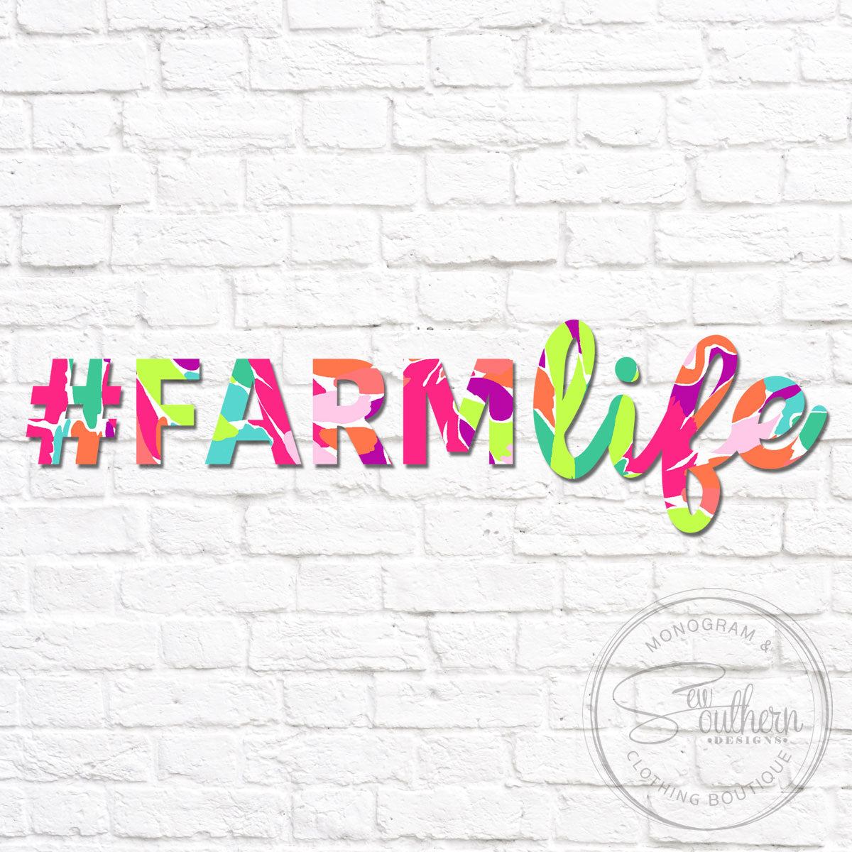 Lilly Farm Life Decal