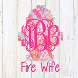 Lilly Hydrant Fire Wife Decal