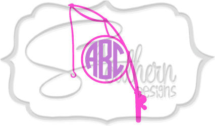 Fishing Rod / Pole Monogram