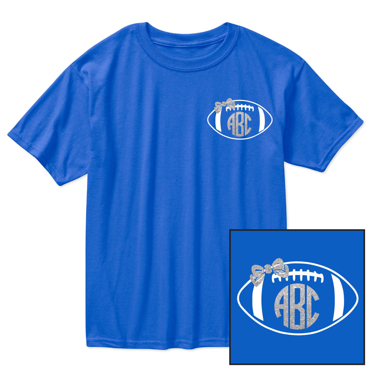 Royal Blue Monogram Football Shirt