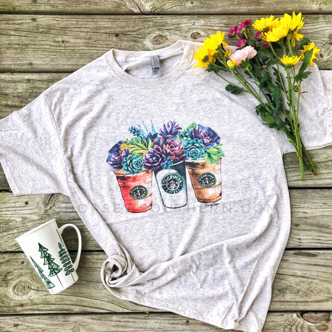 Coffee Gal Floral - Graphic T-Shirt