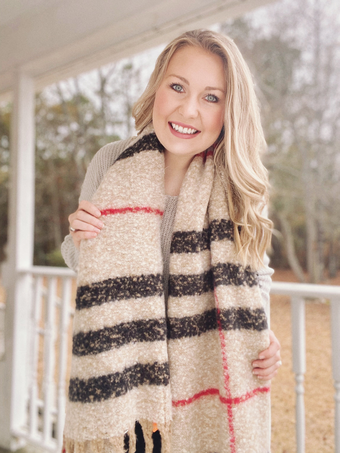 Plaid For You Taupe - Scarf