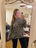 Leopard Lover Pullover Sweater - Grey