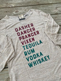 Reindeer Tequila Rum Vodka Whiskey - Beige - Long Sleeve