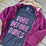 Dogs Before Dudes Foil - Black - Graphic T-Shirt