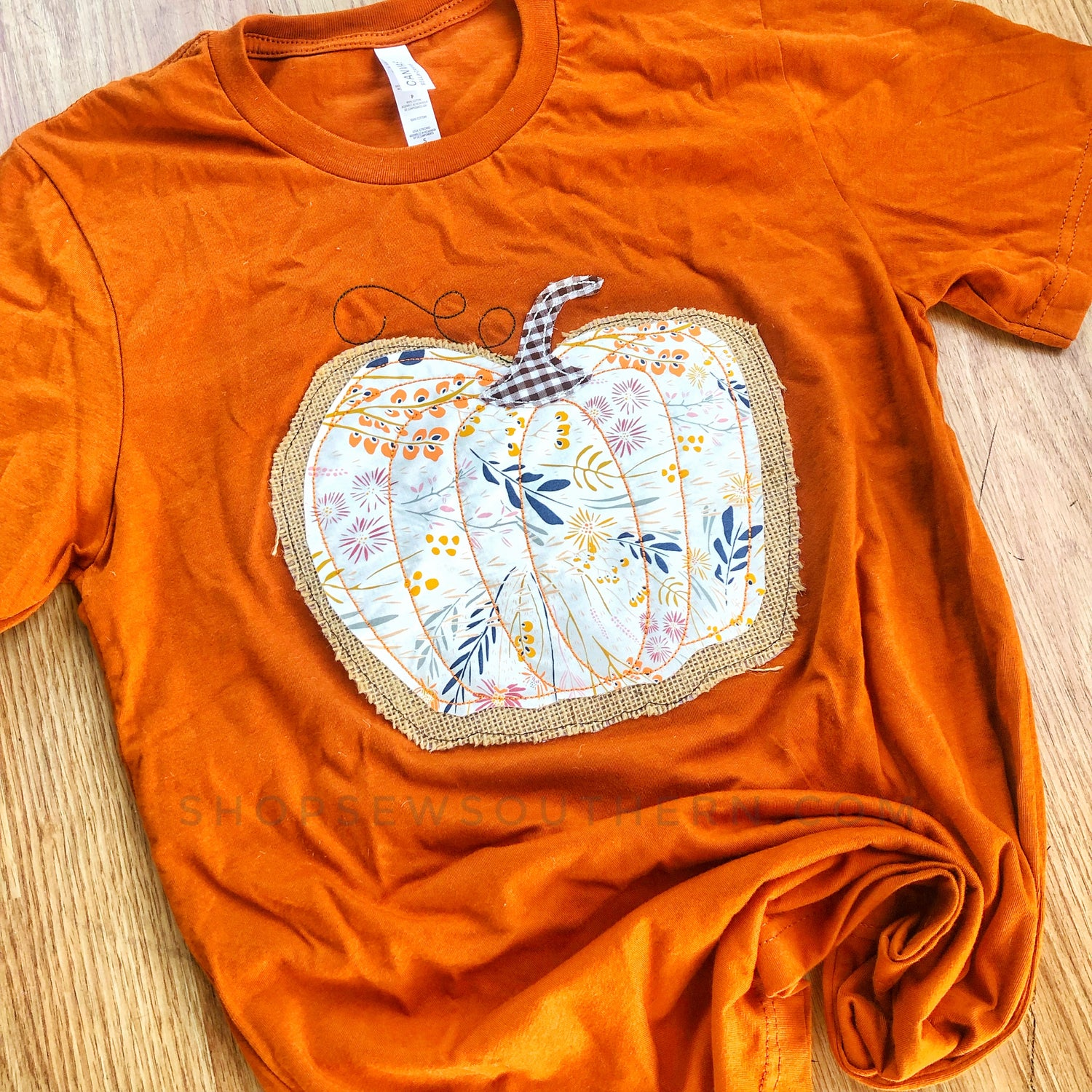 Pumpkin Applique - Orange - Graphic T-Shirt