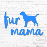 Fur Mama Dog Silhouette Decal