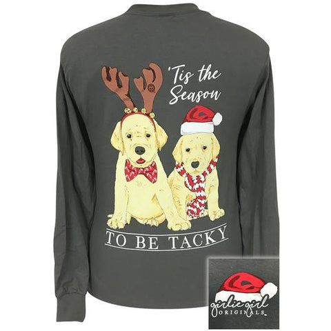 Christmas Labs Dog - Grey - Long Sleeve T-Shirt