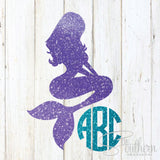 Glitter Mermaid Monogram Decal