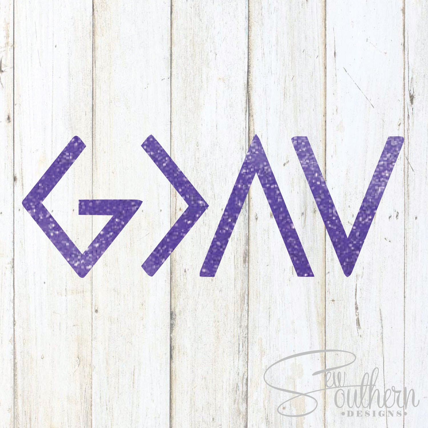 Glitter God Is Greater Than Our Highs and Our Lows Decal