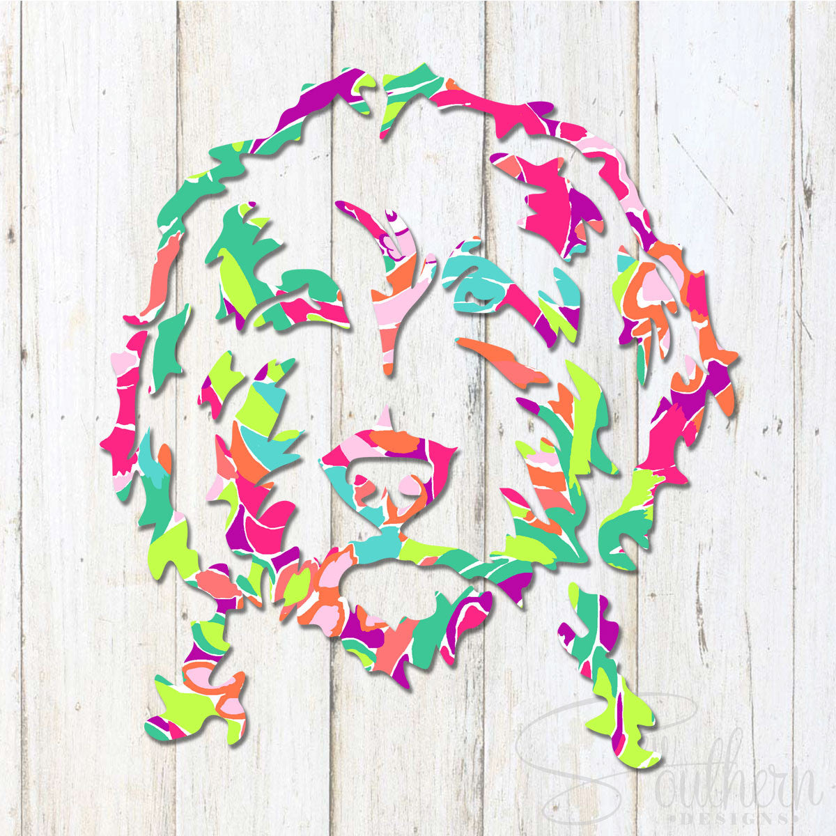 Lilly Golden Doodle Head Decal
