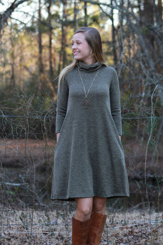 Headed North Dress - Olive