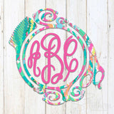 Lilly Hair Border Decal
