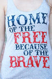 Home of the Free Tank Top - Grey