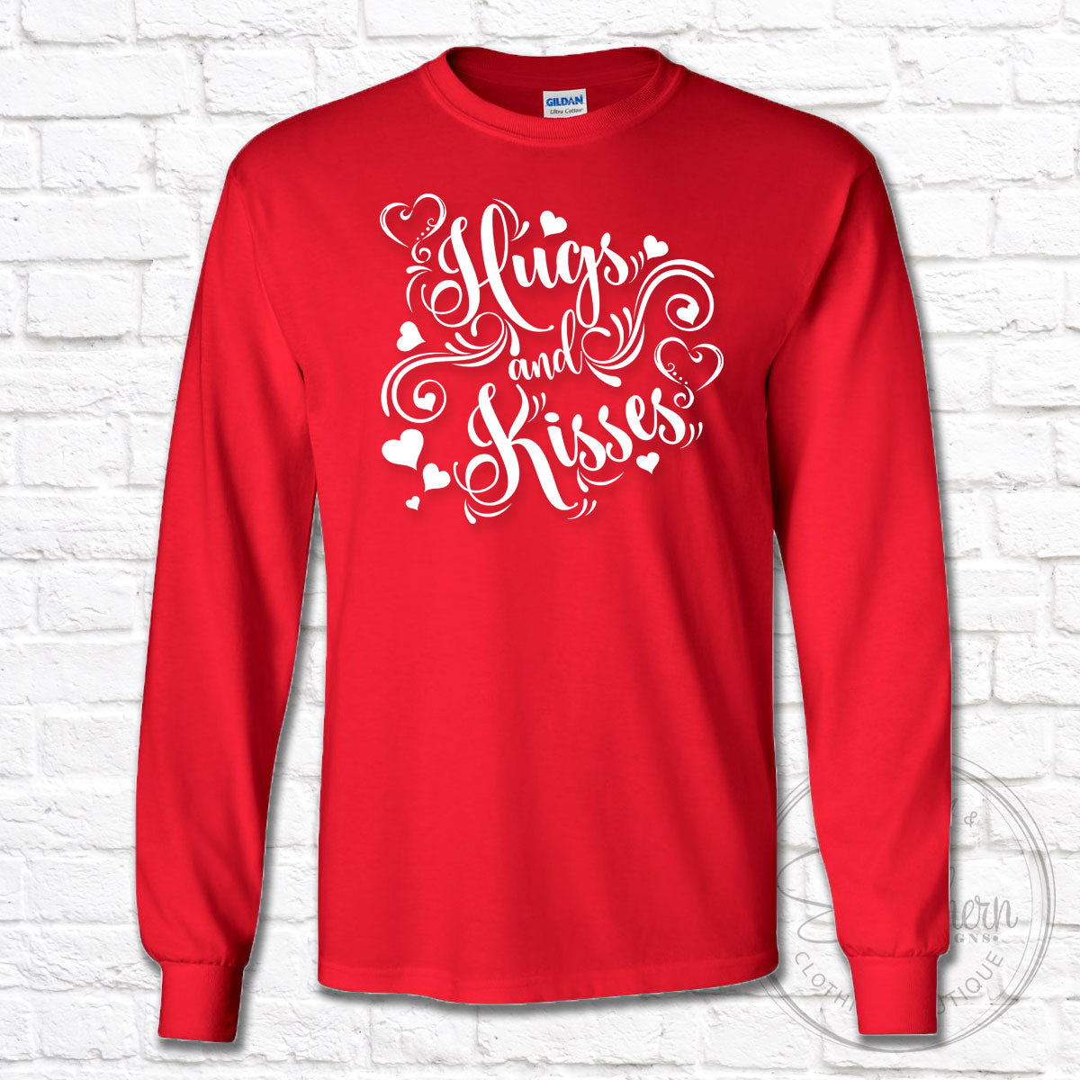 Hugs and Kisses Valentine's Day Shirt - Long Sleeve