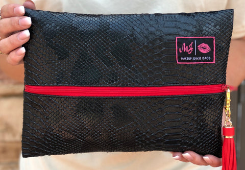 Makeup Junkie Bag - Black Cobra