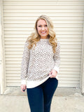 Loving On Leopard Sweatshirt Top