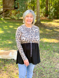 *SALE* Never Basic Leopard Babydoll - Top
