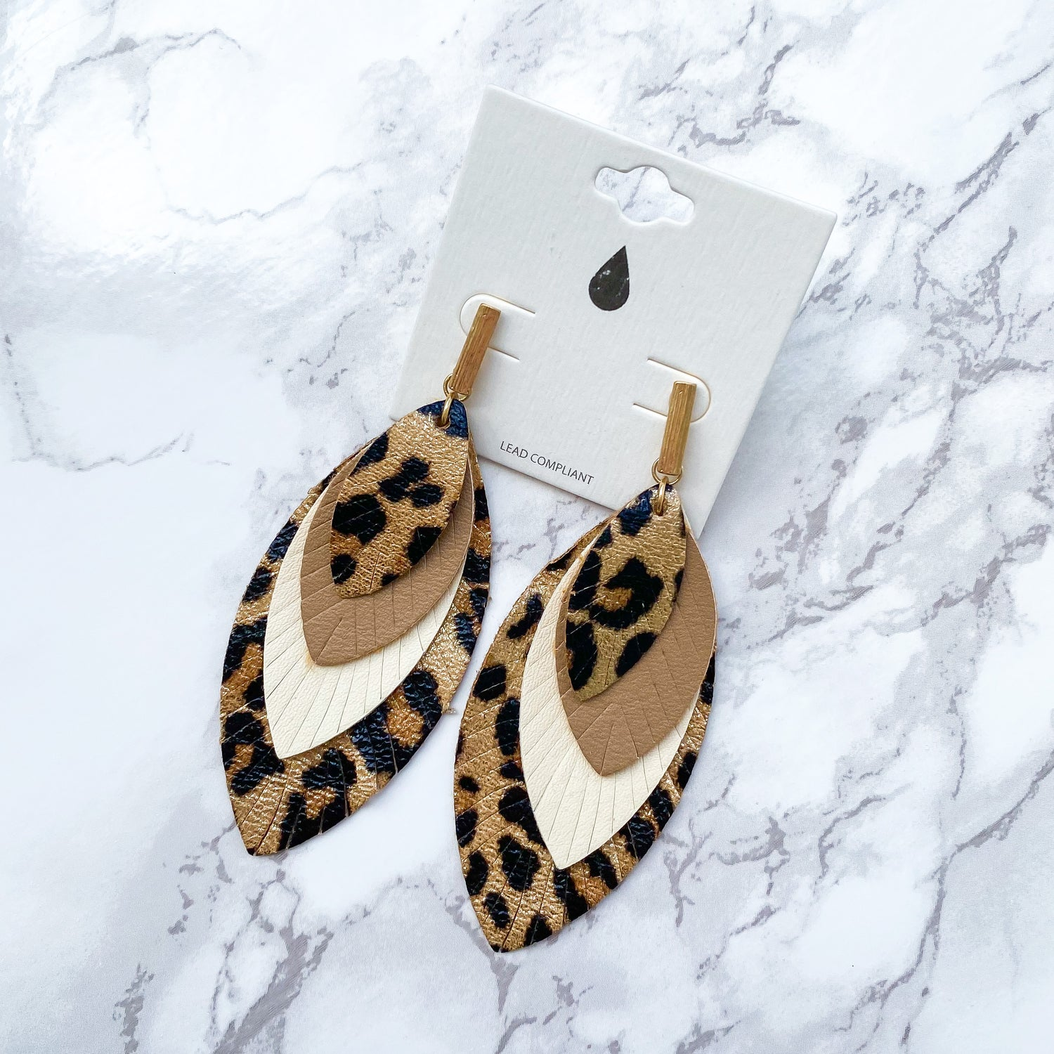 Lexie Leopard Layered Earrings - Leopard