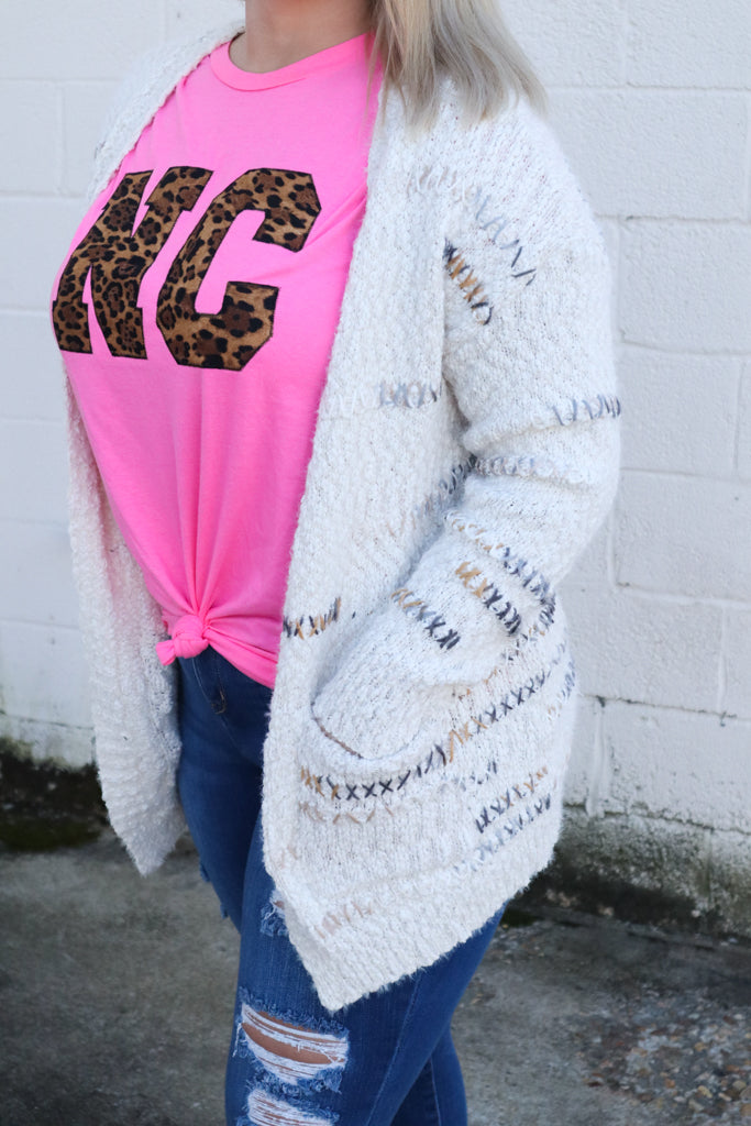 *SALE* Snowed In Sweater - Cardigan