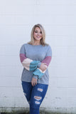*SALE* By The Book Colorblock Sleeve- Top