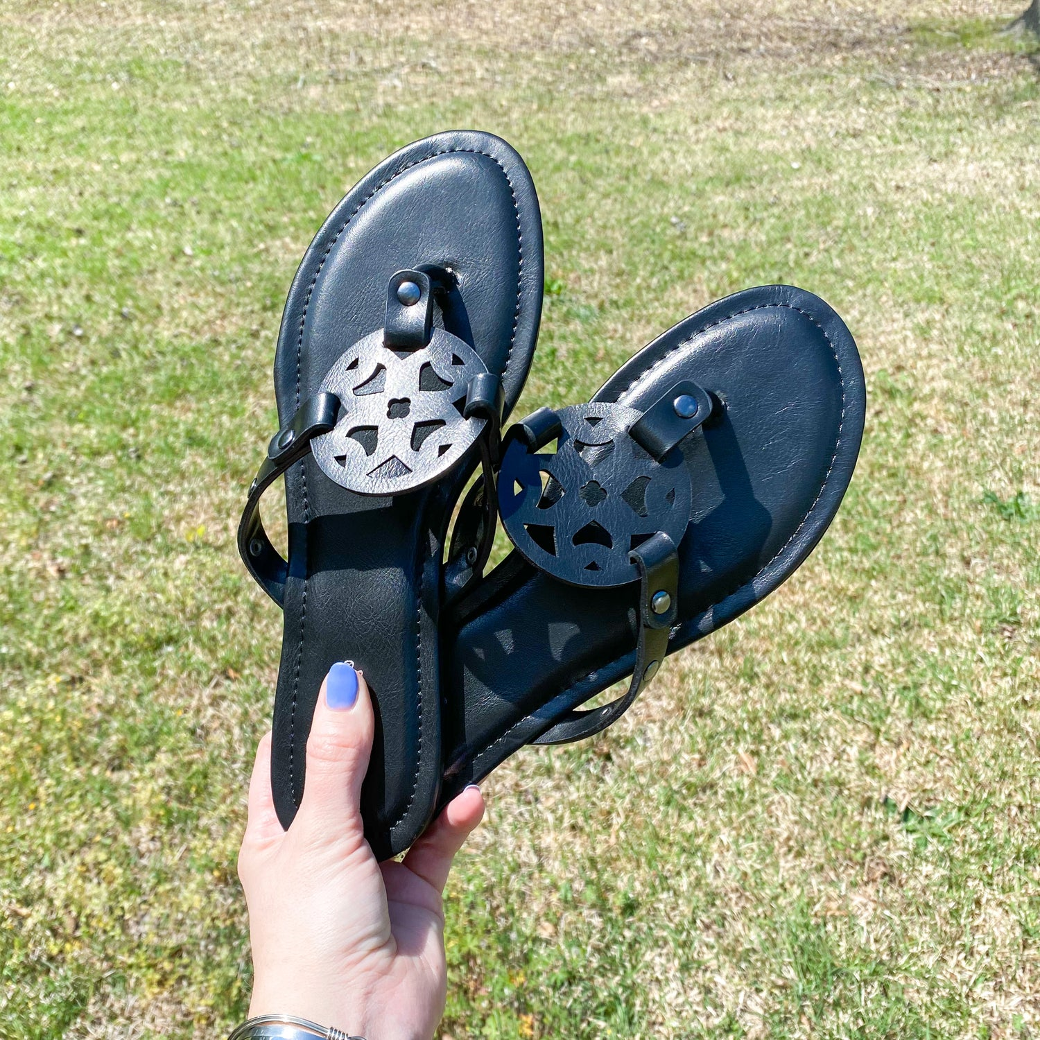 Mia Inspired Sandals - Black