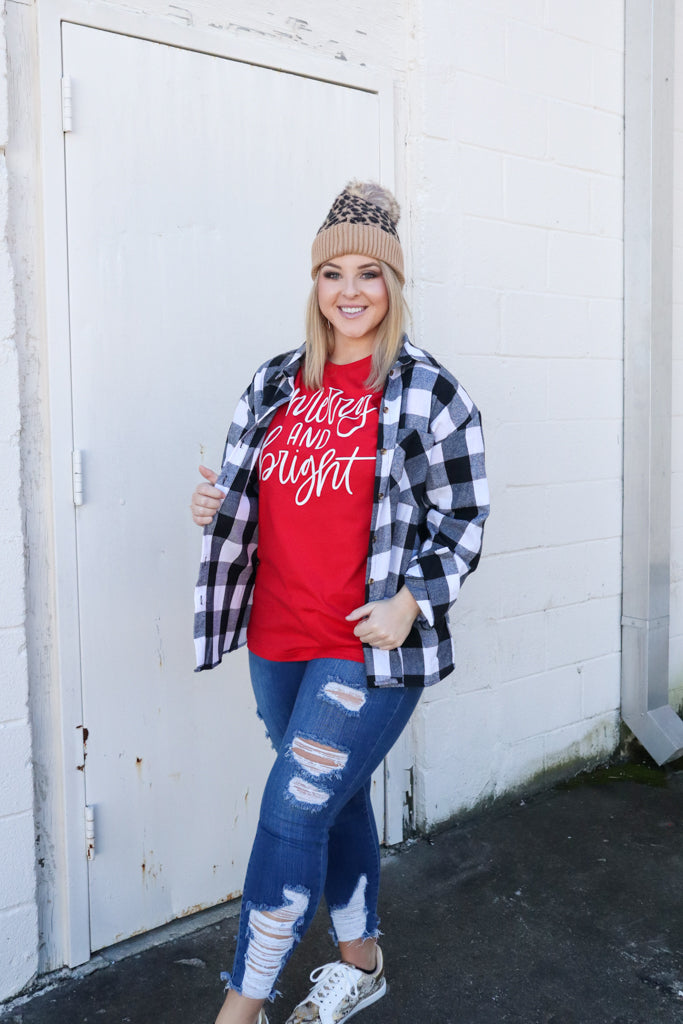 Merry and Bright Christmas  - Graphic Tee