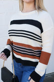Spice It Up Stripe Sweater - Top