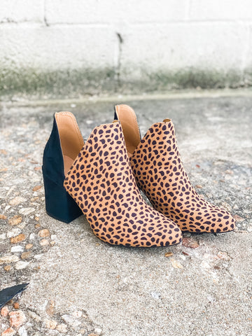 Split Decision Cheetah - Booties