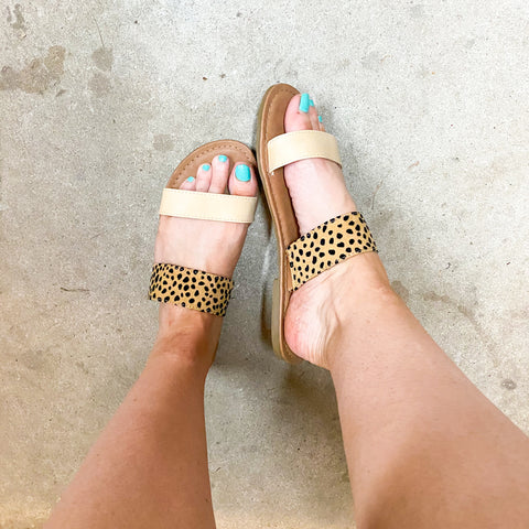 *SALE* On The Move Sandals - Leopard/Tan