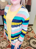 *SALE* Carolina Pop Striped Knit - Cardigan