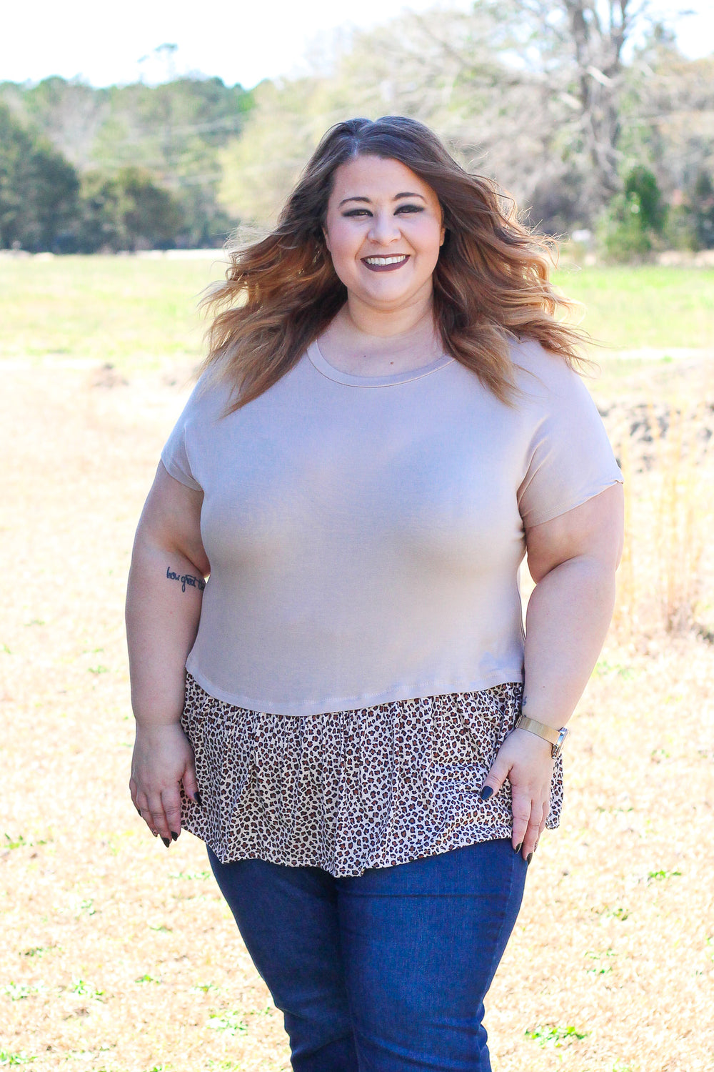 From The Wild Leopard - Top - Taupe