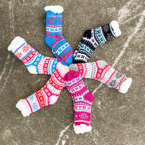 *BF DEAL* Patterned Sherpa Socks