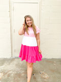 So In To You Colorblock Dress