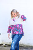 *SALE* Catch Me in Floral Cowl Neck Pullover