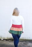 *SALE* Stay With Your Tiered Colorblock Top