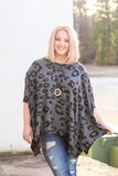 Share The Love Leopard Poncho Top